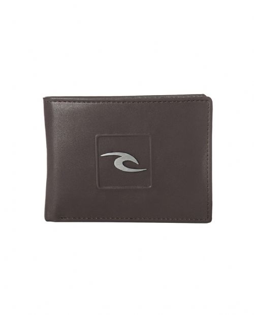 RIP CURL MENS WALLET.RIDER FAUX LEATHER BROWN MONEY NOTE COIN CARD PURSE 8S J1 9